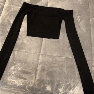 Akira Black Crop Top